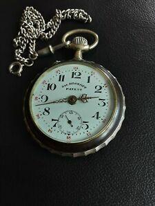 """Große, alte Taschenuhr """" Gre.ROSKOPF Patent = funktioniert"""