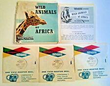 Vintage Sawyer's Viewmaster Reels Wild Animals of Africa #B618 1960