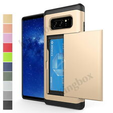 Samsung Galaxy Note 8 9 Slide Card Slot Wallet Cover Slim Case S8 S9 S10 Plus