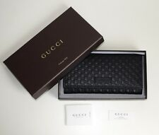 20ac4e1fb04f Gucci Women Wallet Original Monogram GG Leather Black 449396 2067
