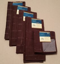 Kitchen Accessory Set Hand Towel Dish Cloth Scrubbie Chocolate Brown NEW