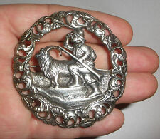 Large Antique Norwegian Silver 830S  H C Ostrem brooch Norway