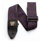 Ernie Ball Purple Paisley Jacquard Guitar Strap for sale