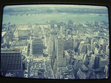 Aerial View of New York New Yorker Building Vintage 1960s Color Photo Slide