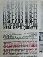 Demonstration NEAL HEFTI QUINTET Light And Right!  The Modern Touch Vinyl Lp