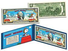 USA $2 Dollar Bill  PEANUTS SNOOPY vs. RED BARON Legal Tender Certificated Mint