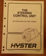 """Hyster """"The Steering Control Unit"""" Manual, 1600 SRM 54"""