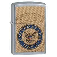Zippo Windproof Lighter United States Navy Street Chrome (29384)