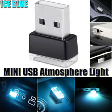 1* LED USB Car Interior Light Neon Atmosphere Ambient Lamp Bulb Accessories Blue