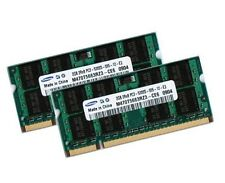 2x 2gb 4gb ddr2 de memoria RAM toshiba satellite l100