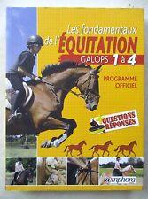 Les fondamentaux de l'équitation Galops 1 à 4 Questions Réponses  /ZA20