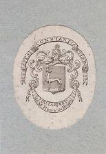 Ex-libris héraldique HENRY du ROSNEL.