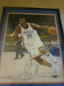 Kevin Durant Signed Framed 16x20 Thunder Photo Pic With ROY Inscription Real