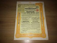 More details for bond loan moscow-windau-rybinsk russia 1898 railway share certificate 1000 marks