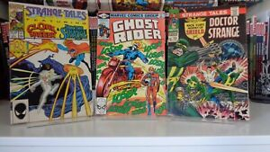 Marvel Strange Tales Vol2 #1 and Vol 1 #155 and Ghost Rider #46