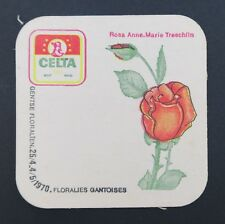 Ancien sous-bock bière CELTA Floralies gantoises 1970 coaster Bierdeckel 10