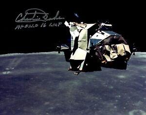 Apollo 16 Moonwalker Charlie Duke Autographed Lunar Module Photograph!  Mint!!