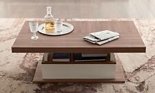 Couch-Sofa-Beistelltisch  Nussbaum Beige Modern Wohn-Ess-Speisezimmer aus Italy