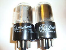 One Closely Matched Pair 6Sn7Gtb Tubes, By Ge, High Ratings of 95 to 100