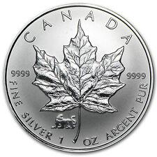 1998 1 oz Silver Canadian Maple Leaf Coin - Lunar Tiger Privy Mark - SKU #24512