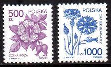 Poland - 1989 Definitives flowers Mi. 3245-46 MNH