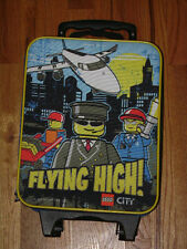 LEGO CITY FLYING HIGH SUITCASE CARRY ON TRAVEL LUGGAGE Rolling Case Bag RARE