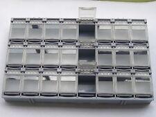 1 pcs SMD SMT Electronic Component Mini Storage Box 24 Blocks T-157 Grey