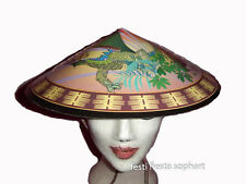 Chapeau chinois en carton avec dragon et soleil [8004761044435] deguisement fete