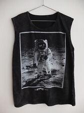 Nasa Man on the moon walk Astronaut Rock Tank Top Vest M