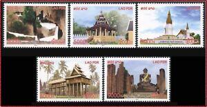 Laos N°1854/1858 Architecture, Monuments, 2014 Laos 2267/2271 Set MNH