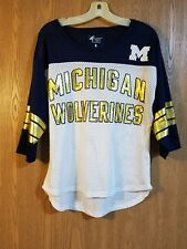 Women's G-III For Her Carl Banks Michigan Wolverines Shirt M EUC