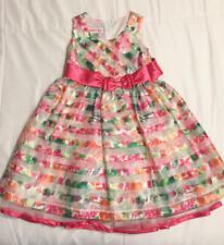 Jessica Ann Pink Floral Easter Summer Dress Girls Size 4 Worn Once