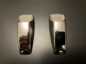 CHROME WINDSCREEN WASHER WIPER JET NOZZLE COVER FITS FREELANDER 2 DISCOVERY 3