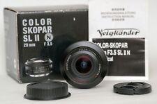 Voigtlander Color-Skopar 20mm f/3.5 SL II N Aspherical Lens for Canon EF BA295E