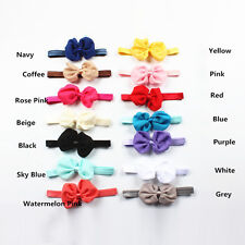 10Pcs Cute Kids Girl Baby Chiffon Toddler Flower Bow Headband Hair Band Headwear