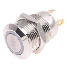 2A/3V interruttore a pulsante 12 millimetri nichelato ottone campana spinta D2B8