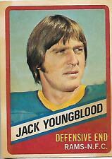 1976 Topps Wonder Bread Jack Youngblood card, Los Angeles Rams HOF