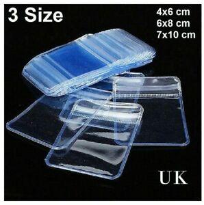 Resealable Clear Plastic Bags Self Grip Seal Small Heavy Duty Baggies Zip Lock