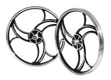 "Brand New BMX 20"" Full Aluminium Front & Rear Wheel Set - Sliver Black"