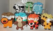Jungle Safari Animals Mini Diaper Cakes Centerpieces Baby Shower You Choose