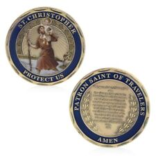 St Christopher Protector Saint of Travelers Drivers Truckers  Challenge Coin