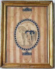1876 CENTENNIAL CELEBRATION PARADE BANNER w/ George Washington on Horse