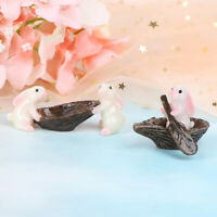 Cute Rabbits Animal Miniature Fairy Garden Moss Micro Landscape Ornament Deco zi