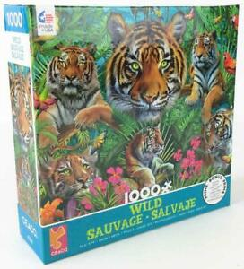 Ceaco Puzzle Wild Series 4 - Tigers in the Jungle New