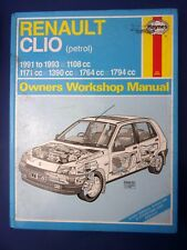 Haynes Owners Workshop Manual Renault Clio petrol 1991 to 1993 (1712)