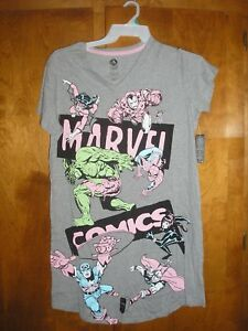 NWT DISNEY Marvel Comics Nightshirt for Women Size Medium/Large