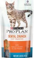 Purina Pro Plan Dental Crunch Natural Chicken & Liver Cat Treats 1.8 oz