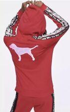 Victoria's Secret Rosa perfetto completo Felpa con Cerniera Bling