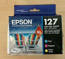 Genuine Epson 127XL Extra High Capacity  Multipack Ink Cartridges C/M/Y