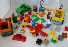 Big bundle of Lego Duplo vehicles and bricks for spares and parts